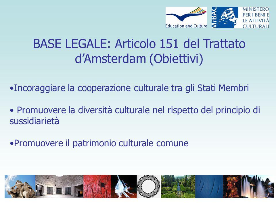 Cultura : Il programma di terza generazione Uno strumento globale coerente e completo per la cooperazione multilaterale in Europa Una visione globale del settore culturale Un contributo alla formazione di una identità europea partendo dal basso