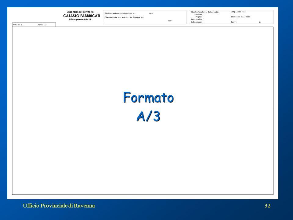 Ufficio Provinciale di Ravenna33 L'elaborato planimetrico… Alla luce delle possibilità offerte dalla procedura DOCFA appare inutile proseguire a conservare l'elaborato nella forma prevista dalla circolare 2 del 1984.