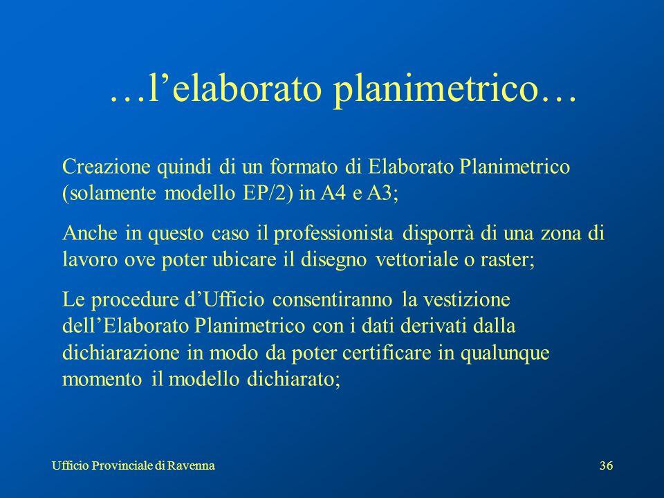 Ufficio Provinciale di Ravenna37 FormatoA/4
