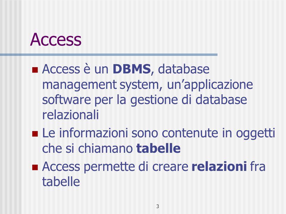 4 Alcuni DBMS Oracle DBX Paradox Access Db2