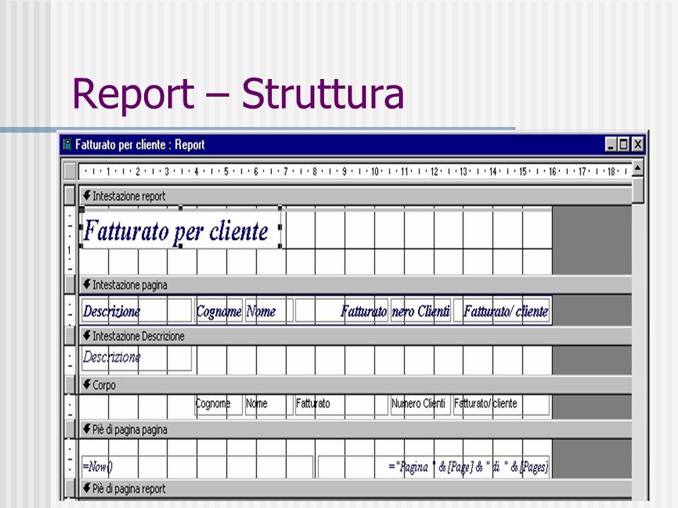 42 Report – Foglio dati