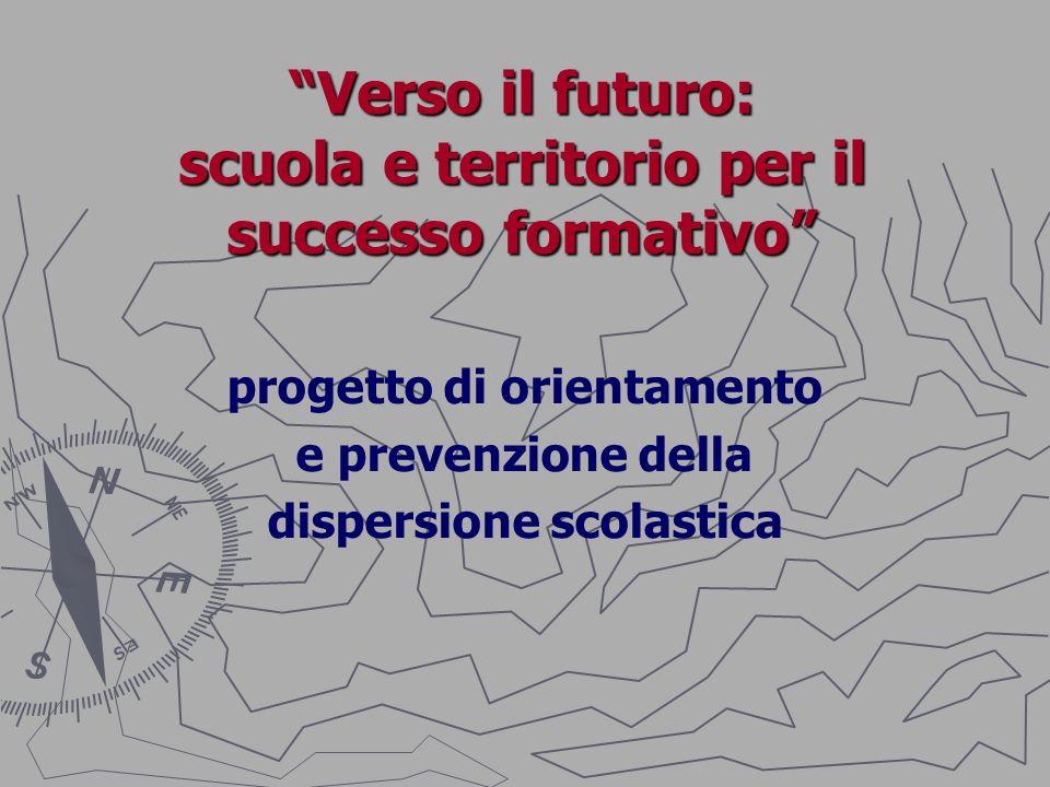 Verso il futuro: scuola e territorio per il successo formativo Il progetto è nato con la precisa idea di ridurre il fenomeno della dispersione scolastica, partendo dalla scuola media e in stretta collaborazione con i servizi del territorio.