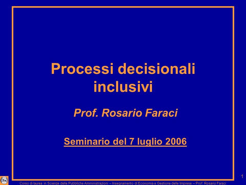 Corso di laurea in Scienze delle Pubbliche Amministrazioni – Insegnamento di Economia e Gestione delle Imprese – Prof.