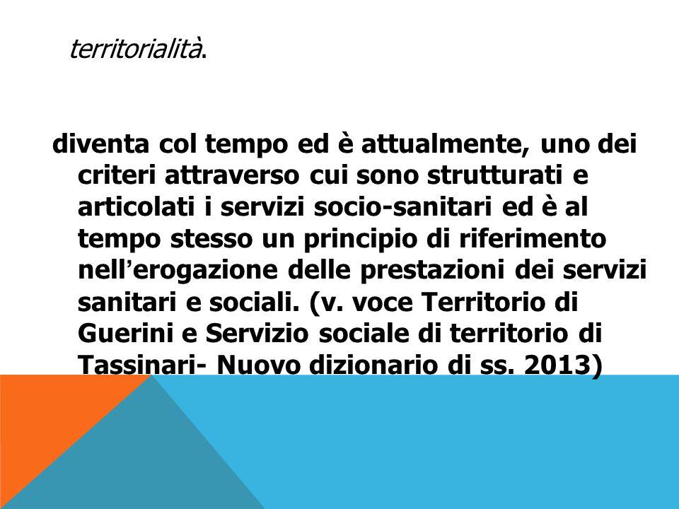 INTORNO AGLI 80` Si registrano delle esperienze di servizio sociale nelle aree periferiche di città urbane, aree disagiate e a rischio di emarginazione segnate da multi - problematicità e scarsa coesione sociale.