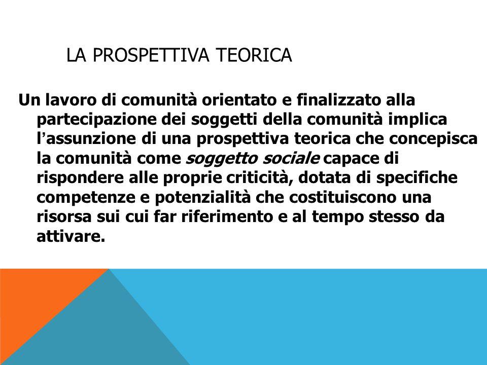 I PRESUPPOSTI TEORICI In modo particolare possiamo utilizzare: -teoria dei sistemi -teoria dell'apprendimento sociale, di Bandura, sviluppatasi in campo psicologico nell'approccio cognitivista.