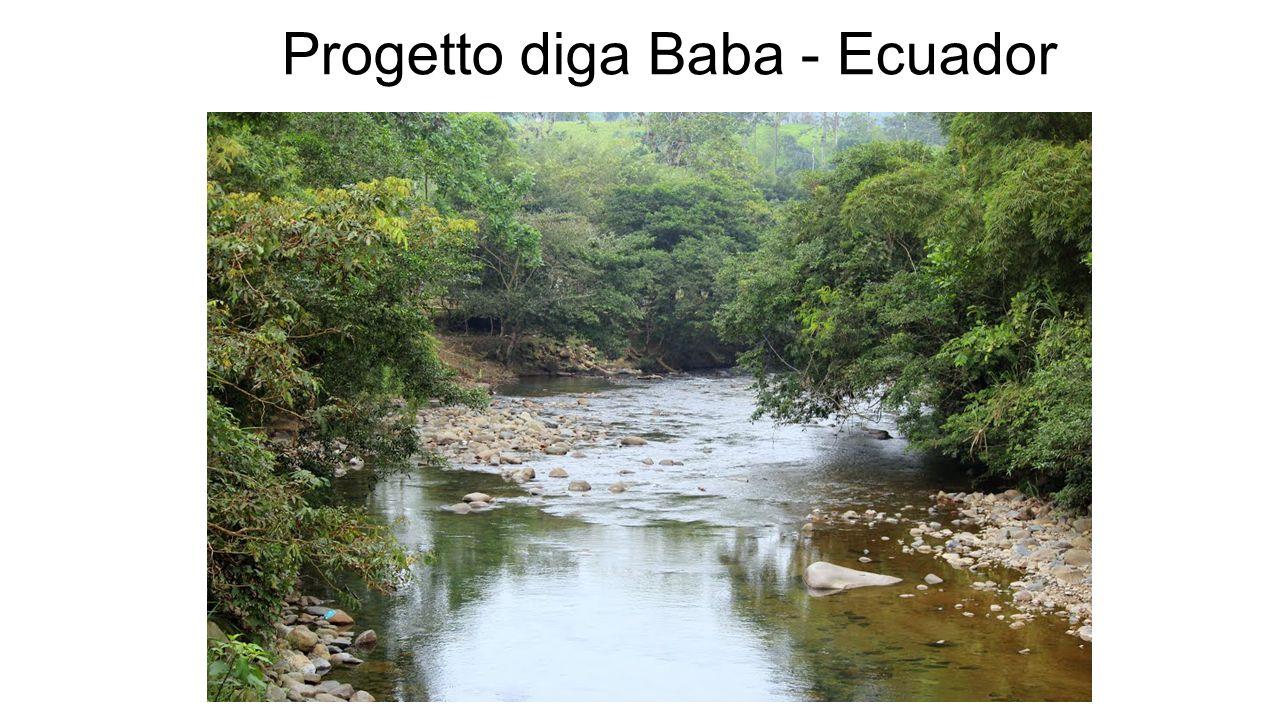 Contestualizzazione del problema Il progetto mira alla realizzazione di una diga sulla confluenza dei fiumi Baba e Toachi, nell'Ecuador nord-occidentale.