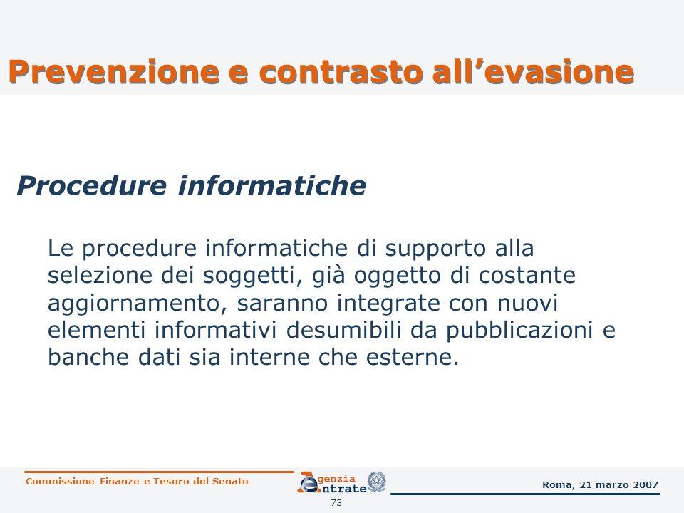 74 5. Consulenza giuridica Commissione Finanze e Tesoro del Senato Roma, 21 marzo 2007