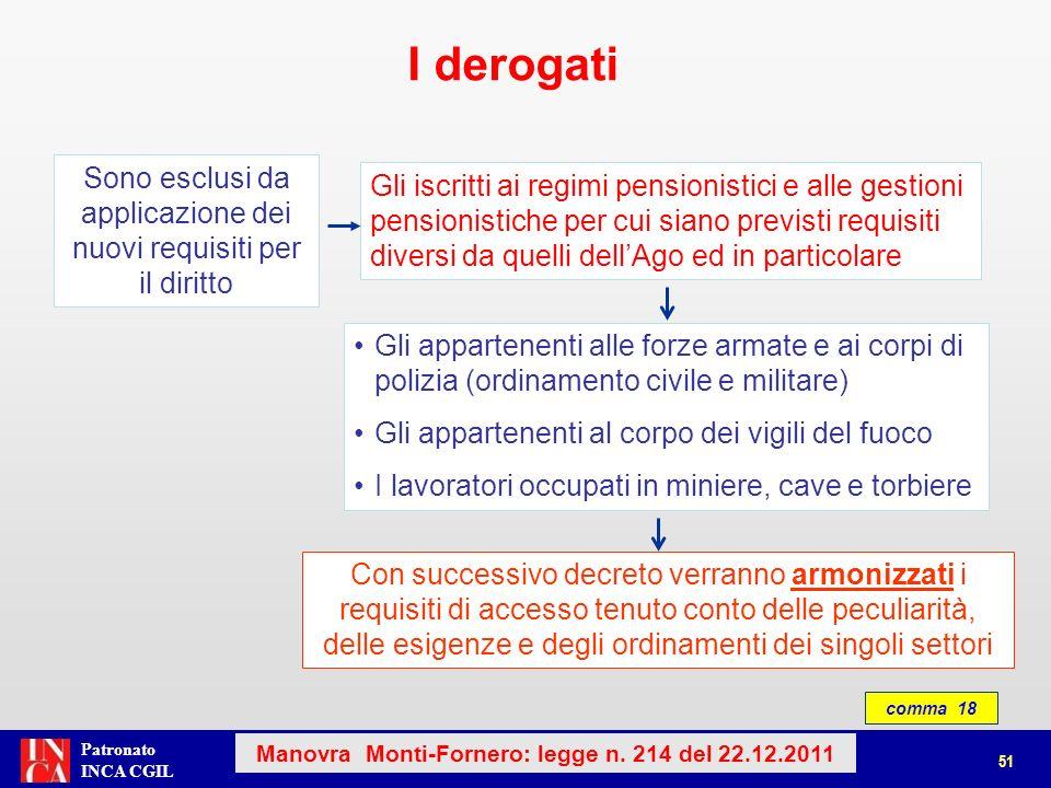 Patronato INCA CGIL Gli addetti ai lavori particolarmente faticosi e pesanti continuano a maturare i requisiti per il diritto a pensione, anche, con il meccanismo delle quote.