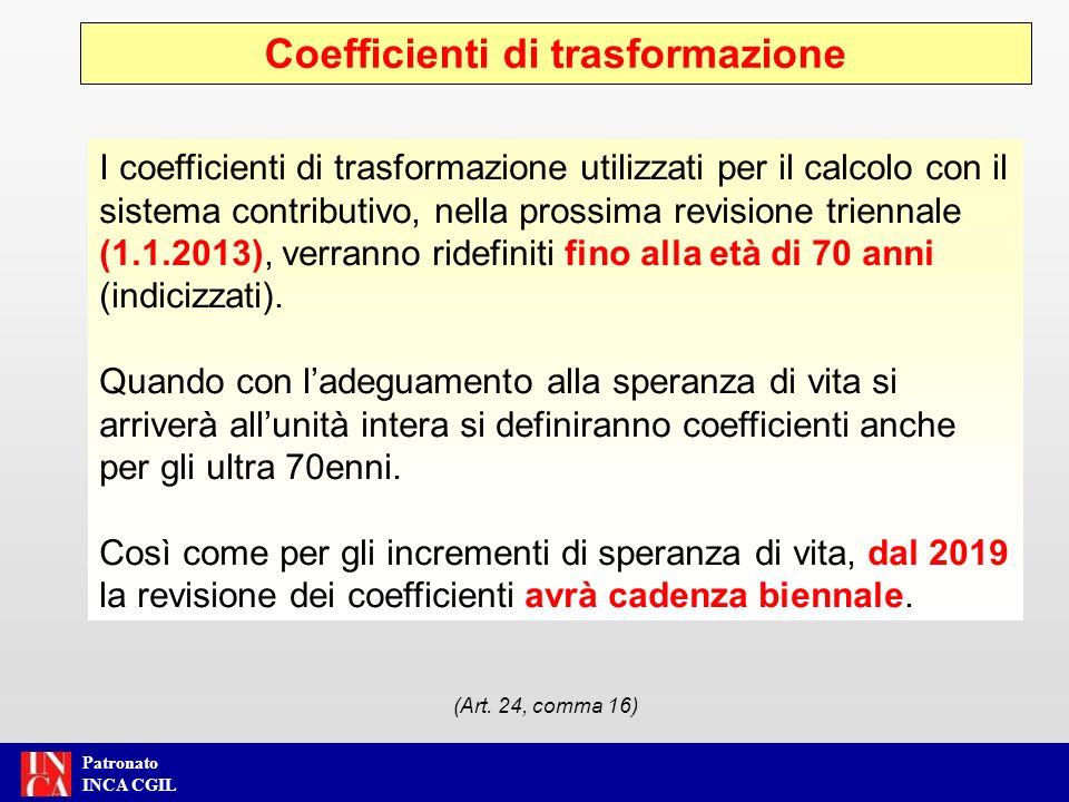 Patronato INCA CGIL Area Previdenza e Assistenza Perequazione delle pensioni