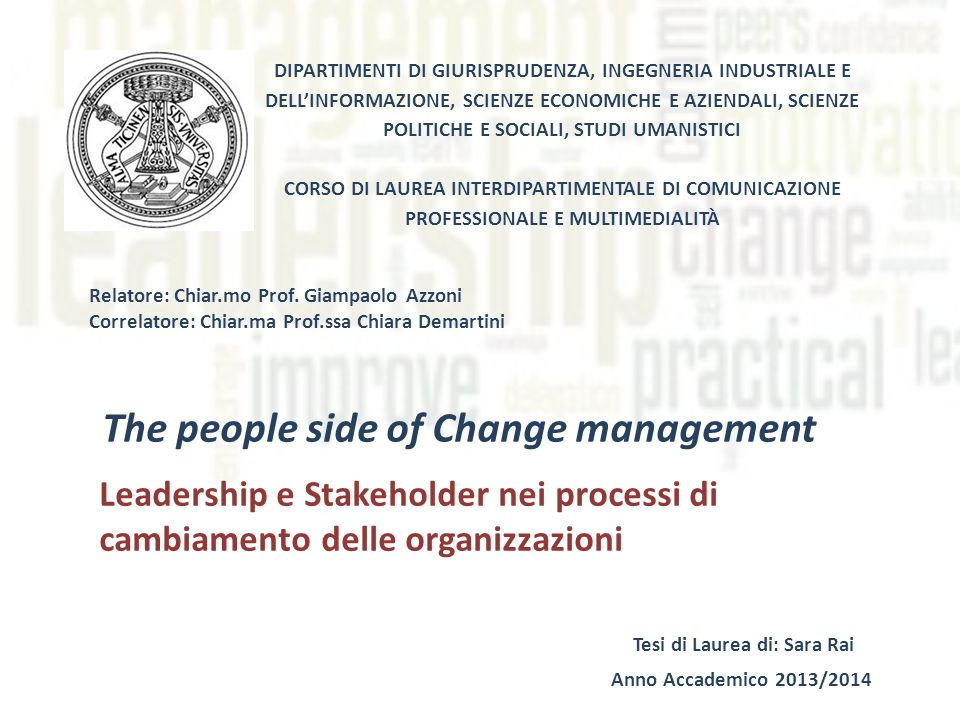 Reasons for Change External/Internal Stakeholders Society and Culture Crisis Competitors Economic condition Technology