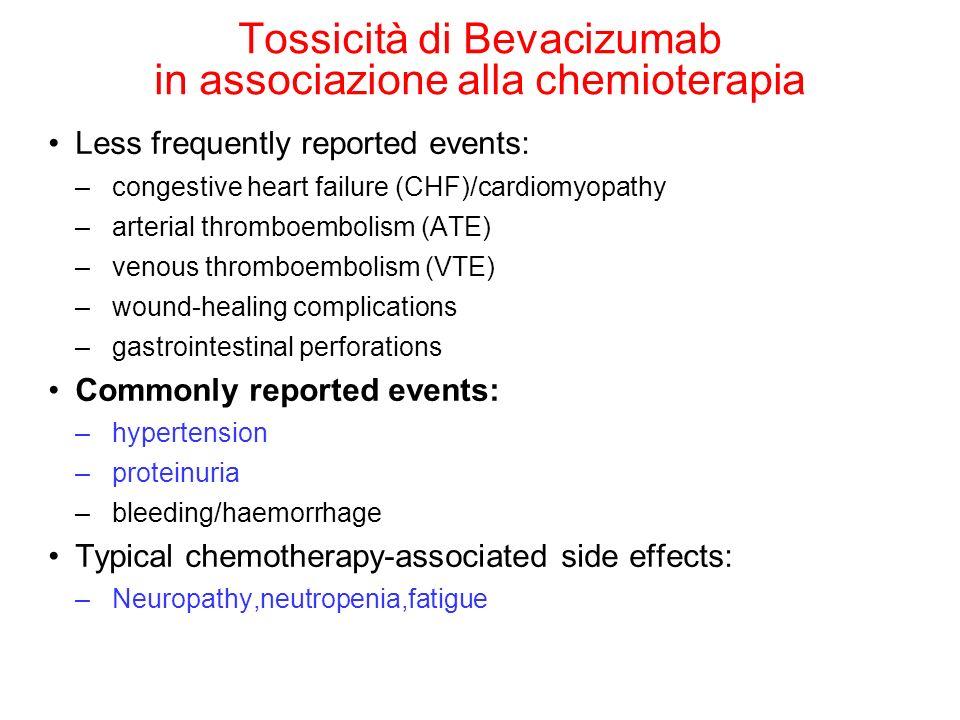 Bevacizumab + IFN nel carcinoma del rene metastatico IFNαIFNα + BEVACIZUMAB N=289N= 306 Overall Response Rate 13% 31% Median Duration of Response 11 mos13 mos Median Duration of Stable Disease 7 mos10 mos Escudier B.