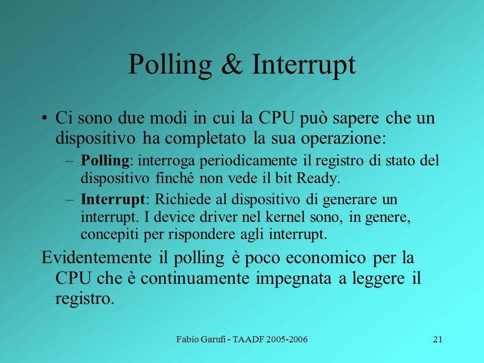 Fabio Garufi - TAADF 2005-200622 L'interprete dei comandi L'interprete dei comandi è un processo del S.O.