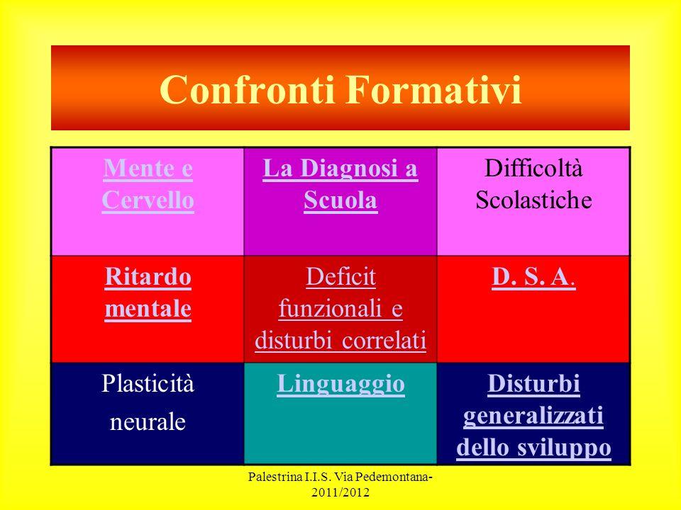 Palestrina I.I.S.Via Pedemontana- 2011/2012 Difficoltà di Apprendimento Cornoldi C.