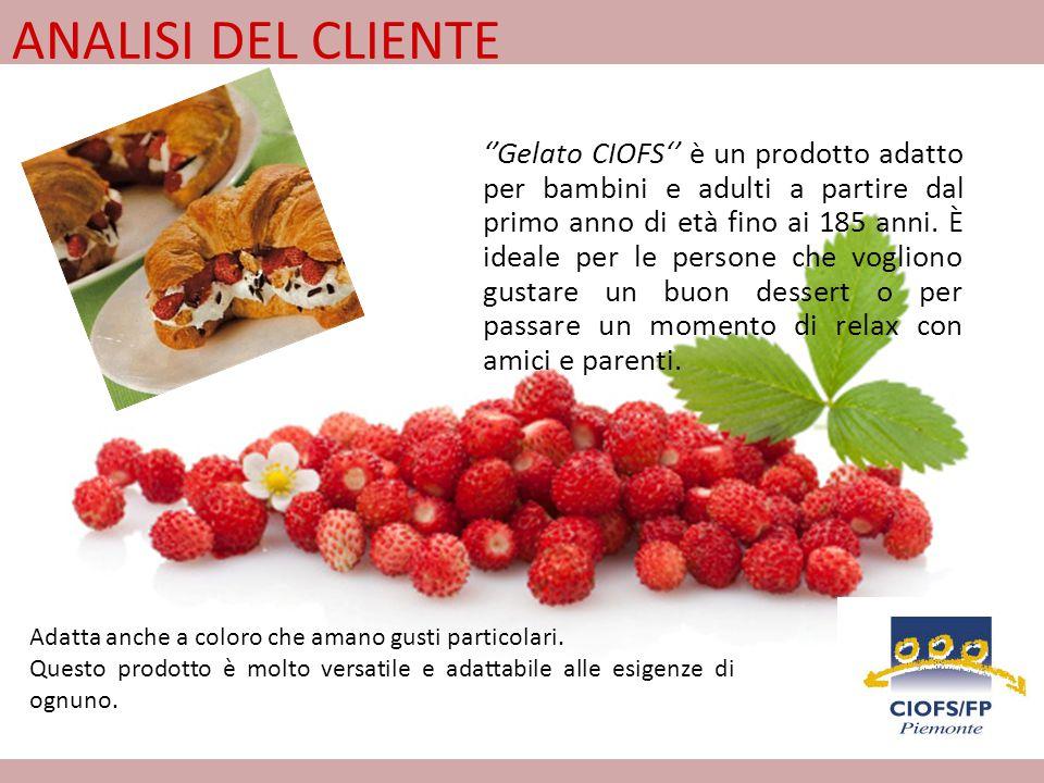 Il Gelato CIOFS ti sorprenderà con il suo gusto fresco e fruttato, fatto con ingredienti naturali: 60% di frutta latte fresco e zucchero.
