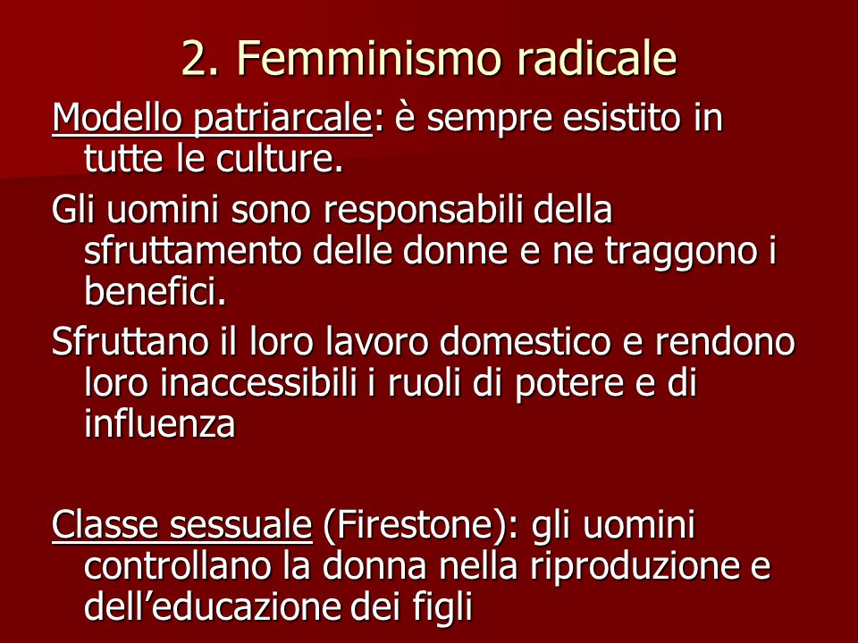 LIMITI: il patriarcato non può essere considerato un modello universale.