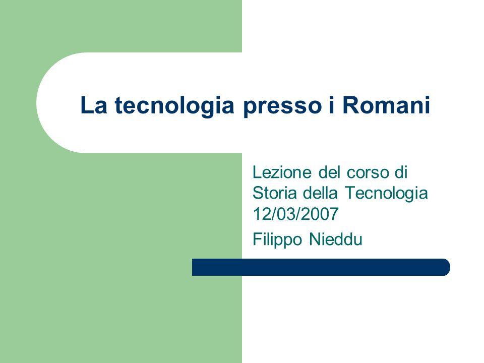 Sesto Giulio Frontino / 1 Sesto Giulio Frontino nacque attorno al 30 d.C.; fu Governatore della Britannia (74-78) e curatore delle acque di Roma (97-104) si occupò anche di agrimensura (in un trattato andato perduto) e di tecnica militare e strategia (Strategmata in 4 libri).