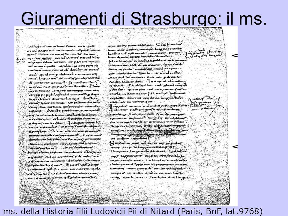 Giuramenti di Strasburgo: il ms., particolare