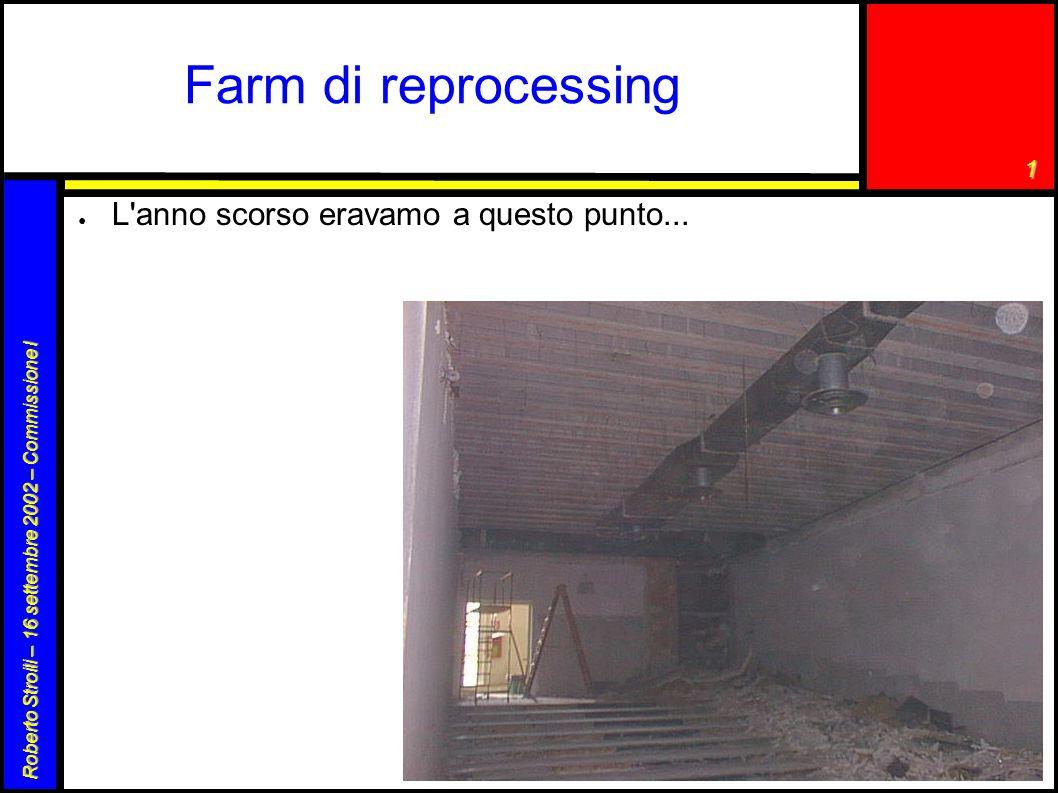 1 Roberto Stroili – 16 settembre 2002 – Commissione I Farm di reprocessing (cont.) ● ora la situazione è un pò migliorata: