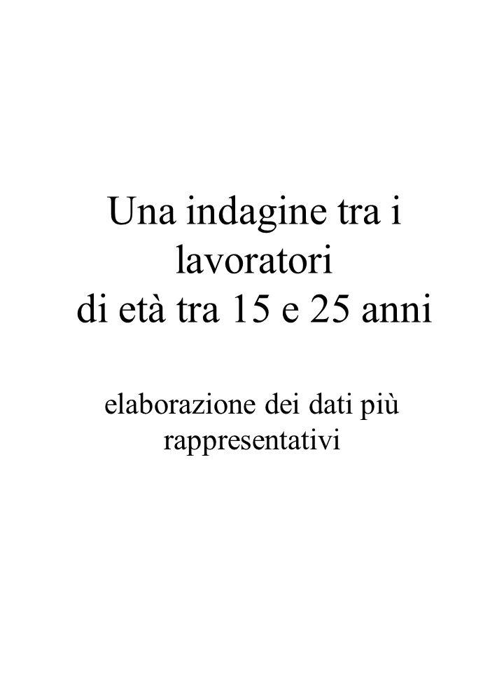 Le modalità dellindagine 1.Lindagine si è svolta tra le lavoratrici ed i lavoratori del Piemonte negli anni 2001 / 2002 ed ha coinvolto 4901 persone di tutte le età lavorative.