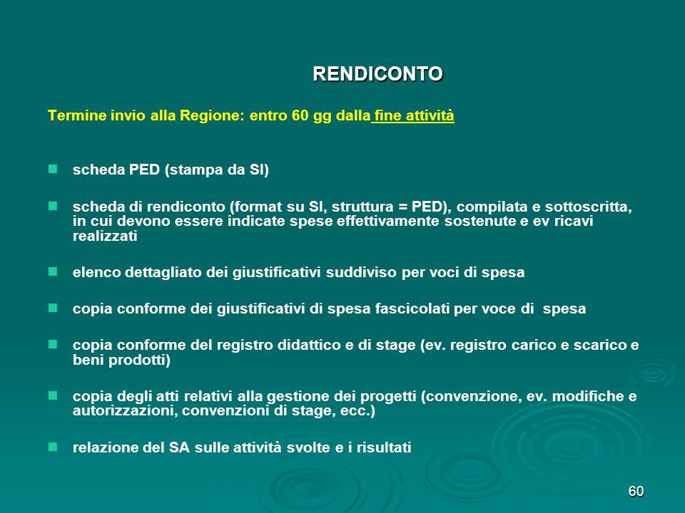 61 CONTROLLO DEL RENDICONTO (1) 1) 1)ammissibilità della spesa 2) 2)concordanza tra spese e relativi documenti giustificativi 3) 3) 4) 4)ev.