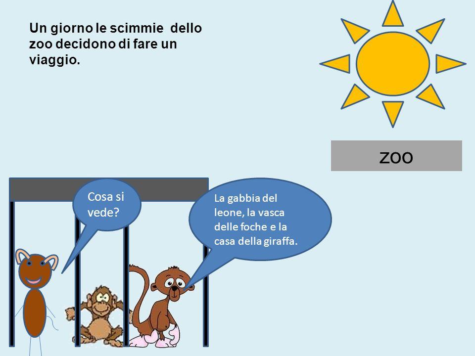 zoo Cosa si vede adesso.La casa della giraffa, la vasca delle foche e la gabbia del leone.