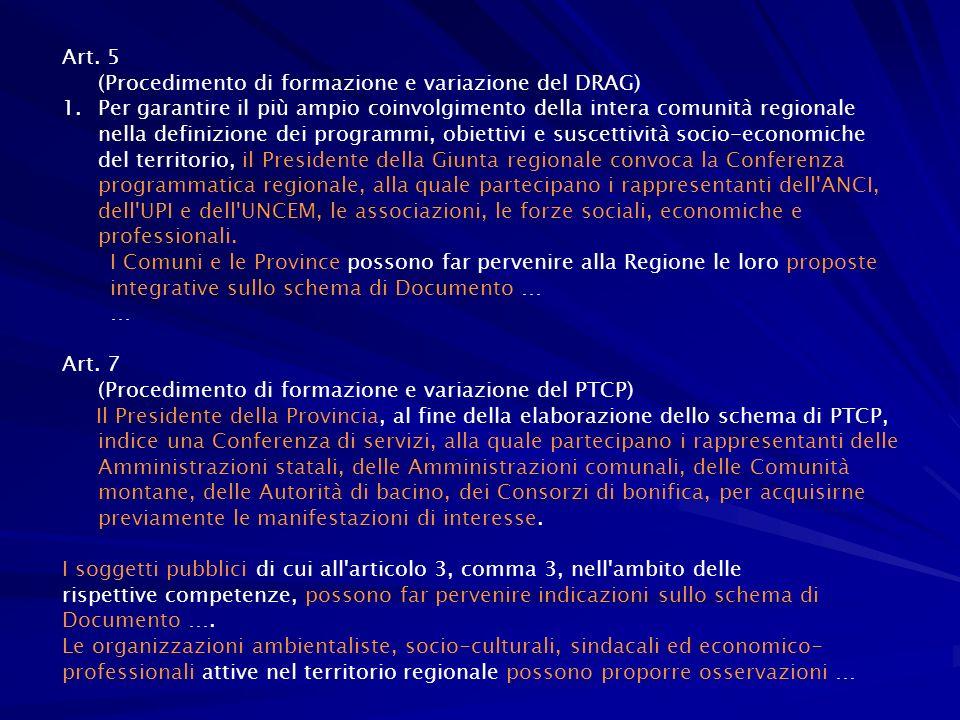 Programmazione Partecipata 2007-2013 (presentata 8 feb.