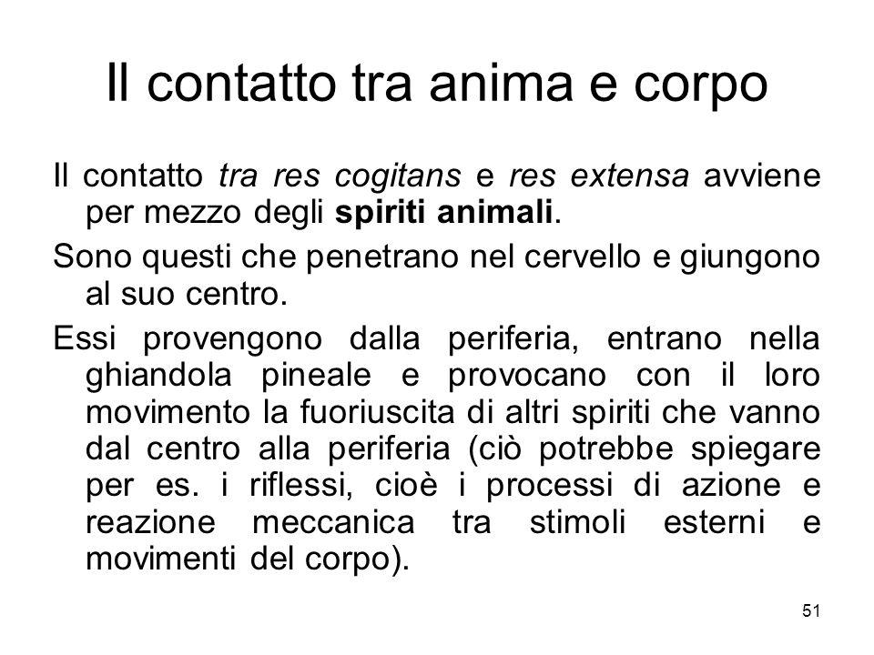 La formazione delle idee avventizie Ma ciò che più importa è che gli spiriti nella ghiandola pineale entrano in relazione con lanima.
