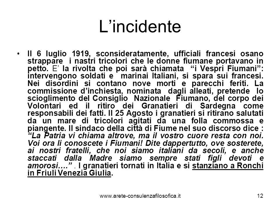 Un fausto 11 settembre L11 settembre 1919 gli ufficiali e i rappresentanti del Consiglio di Fiume offrono a Gabriele dAnnunzio la guida per la riconquista della città.