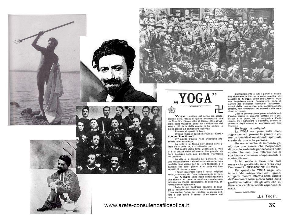 YOGA e il superuomo Dal manifesto di Yoga: i componenti dellassociazione sono «un certo numero di spregiudicati fiumani [decisi a] iniziare una potente lotta contro le persone, una lotta che sarà vinta dagli individui.
