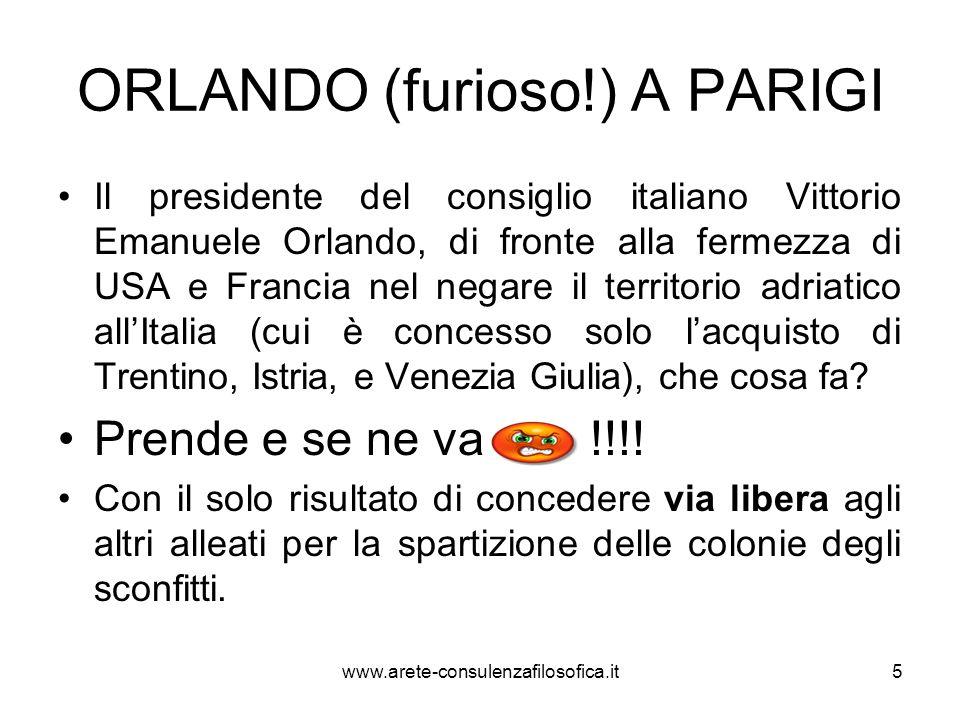 La vittoria mutilata Labbandono della conferenza di Parigi con i suoi esiti disastrosi infligge un colpo mortale al prestigio italiano e alla reputazione personale di Orlando, tanto che si parlerà di una vittoria mutilata.