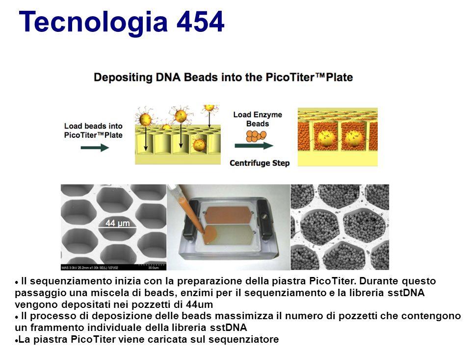 Tecnologia 454 APS=adenosine 5´phosphosulfate PPi=pyrophosphate