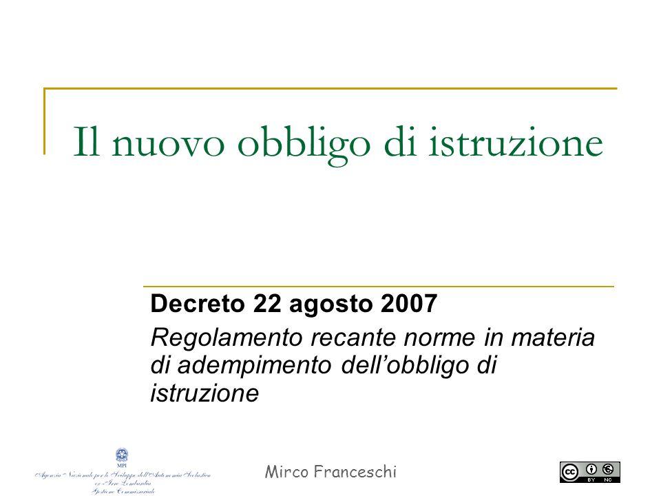 Mirco Franceschi 2 Art.34 della Costituzione La scuola è aperta a tutti.