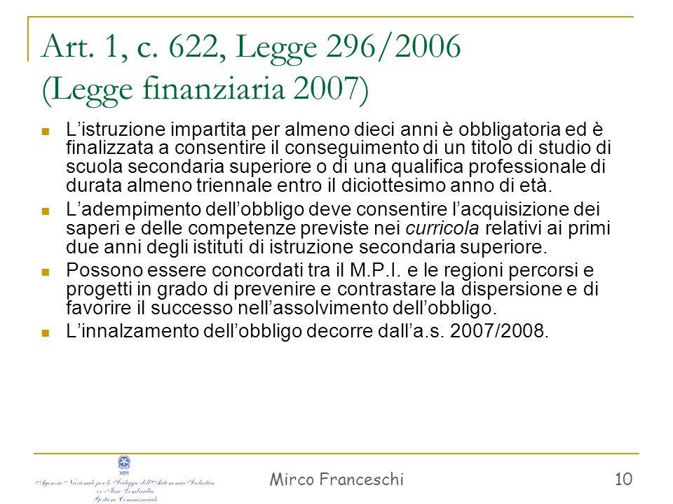 Mirco Franceschi 11 Art.1, c.
