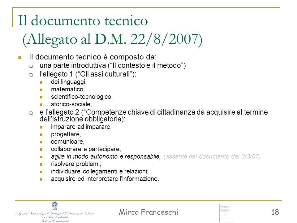 Mirco Franceschi 19 Il contesto e il metodo Riferimento alla raccomandazione dellU.E.