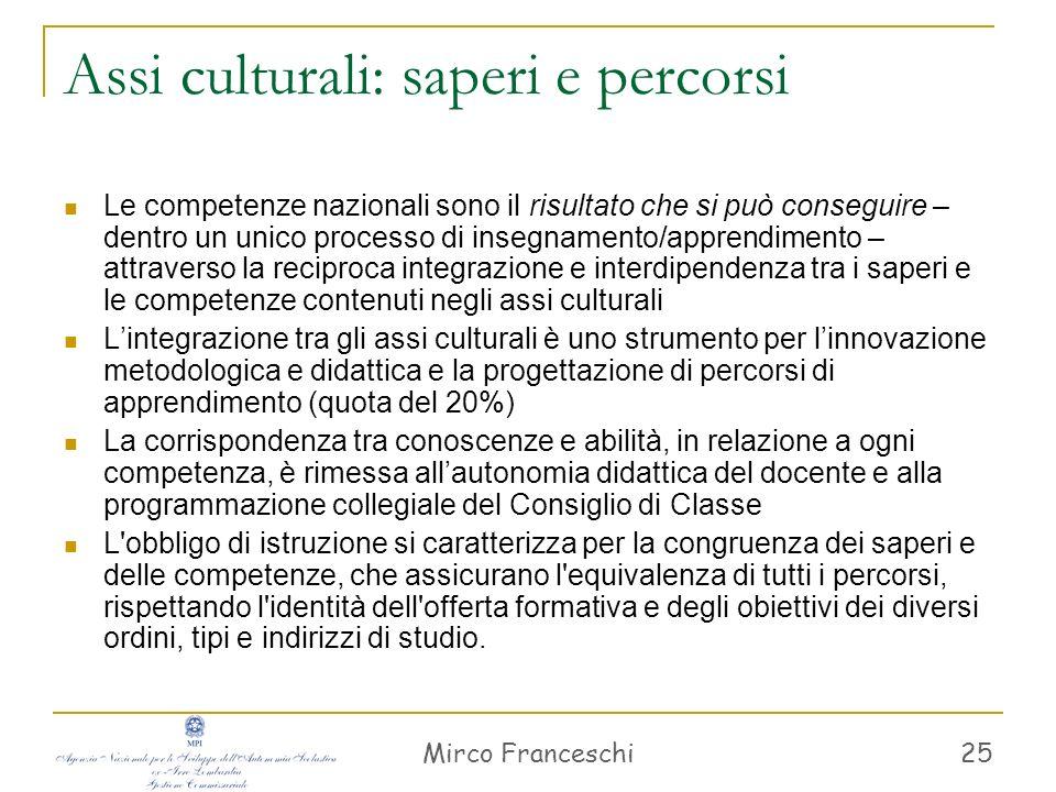 Mirco Franceschi 26 Indicazioni metodologiche Laccesso ai saperi è facilitato da atteggiamenti positivi verso lapprendimento.
