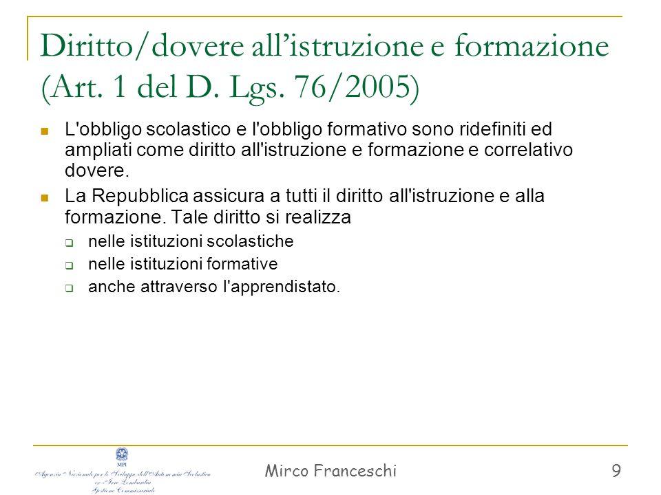 Mirco Franceschi 10 Art.1, c.