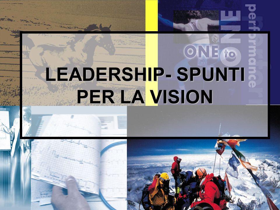 ACQUISISCI LEADERSHIP NELLA MISURA IN CUI SENTI CHE QUALCOSA DI IMPORTANTE PER GLI ALTRI TOCCA A TE