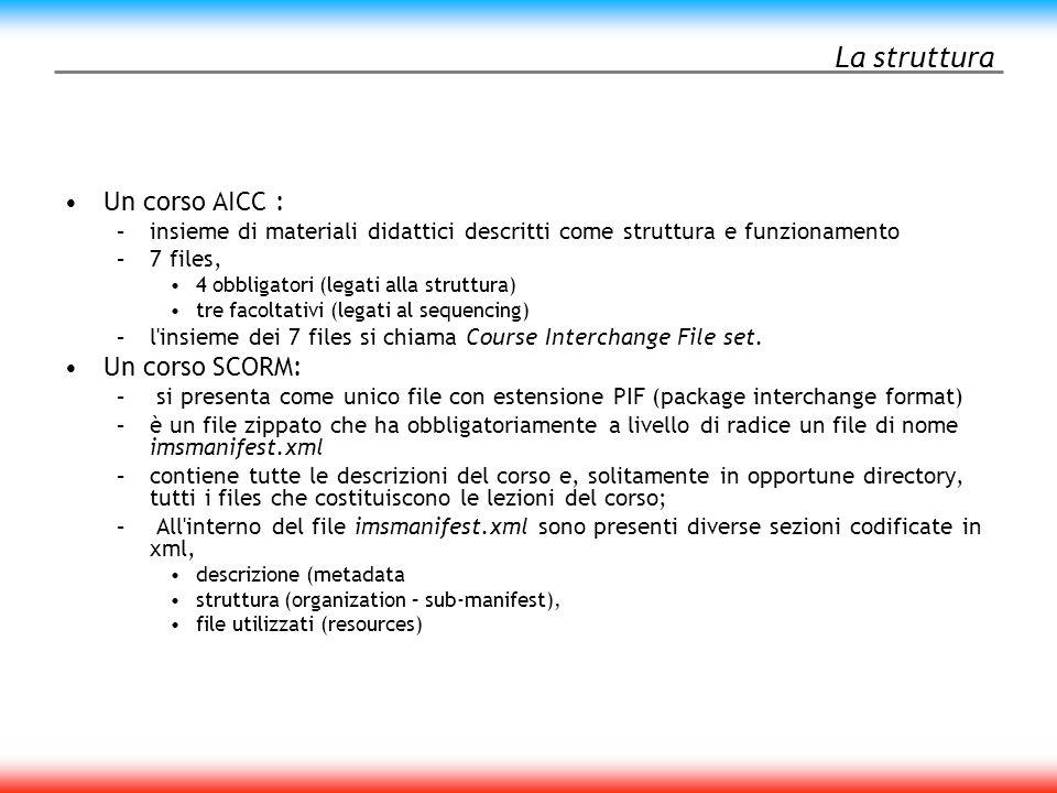 La struttura di un corso AICC CMI 1 CRS AU DES CST ORE PRE CMP [files] CMI 2