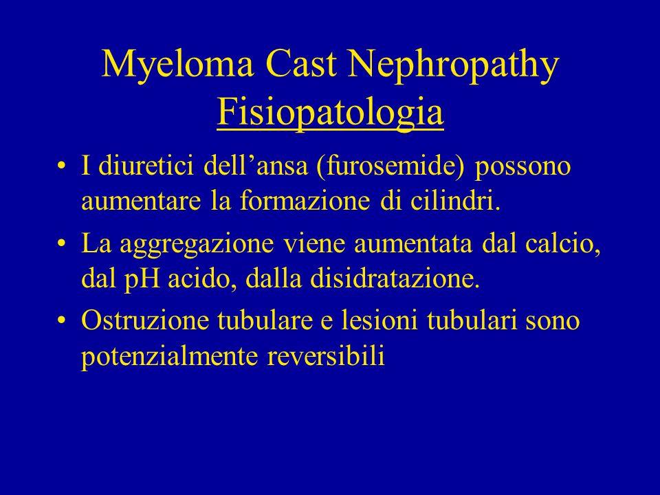 2) Disfunzione Tubulare ( Sindrome di Fanconi) Complicanza rara: alterazione del tubulo prossi- male responsabile di glicosuria, aminoaciduria, ipofosfatemia, acidosi, ipouricemia, ipopotas- siemia.