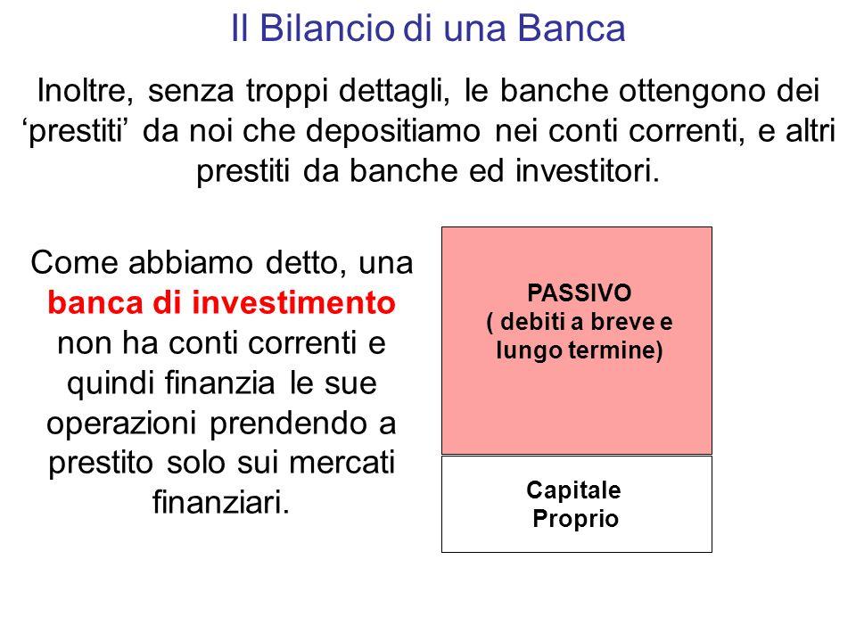 Il Bilancio di una Banca Come impiega questi soldi la banca.