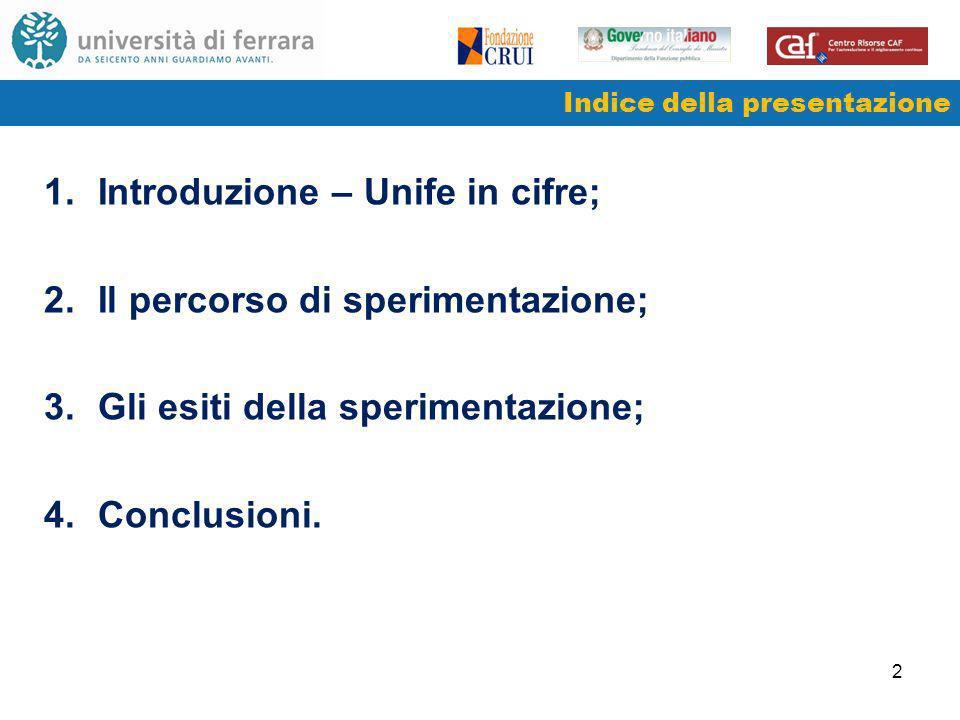 3 1.Introduzione – UNIFE in cifre 1/2 DIDATTICAa.a.