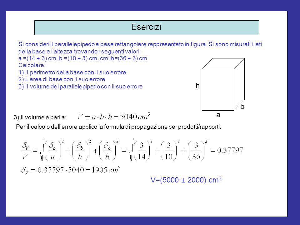 Esercizi Si tratta semplicemente di applicare le formule della media pesata.