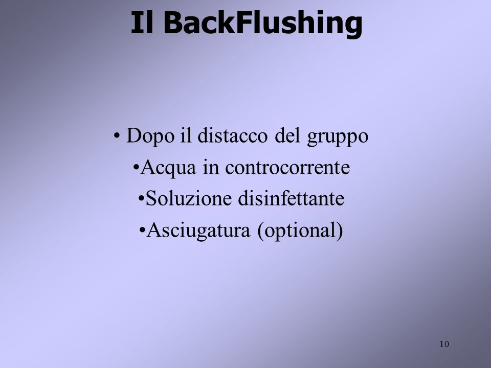11 Il BackFlushing