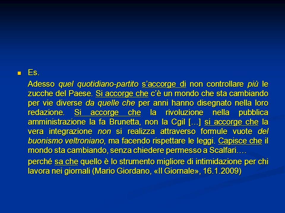 Sapere che Non sapevamo che questa non era una vera democrazia (Berlusconi) Non sapevamo che questa non era una vera democrazia (Berlusconi) Lo scienziato francese sapeva bene che se una soluzione di un sale viene frapposta fra due prismi di spato dIslanda…è necessario ruotare uno dei due cristalli di un certo numero di gradi per permettere a tutta la luce di attraversarlo (Sbisà, Detto non detto, Laterza)Lo scienziato francese sapeva bene che se una soluzione di un sale viene frapposta fra due prismi di spato dIslanda…è necessario ruotare uno dei due cristalli di un certo numero di gradi per permettere a tutta la luce di attraversarlo (Sbisà, Detto non detto, Laterza)