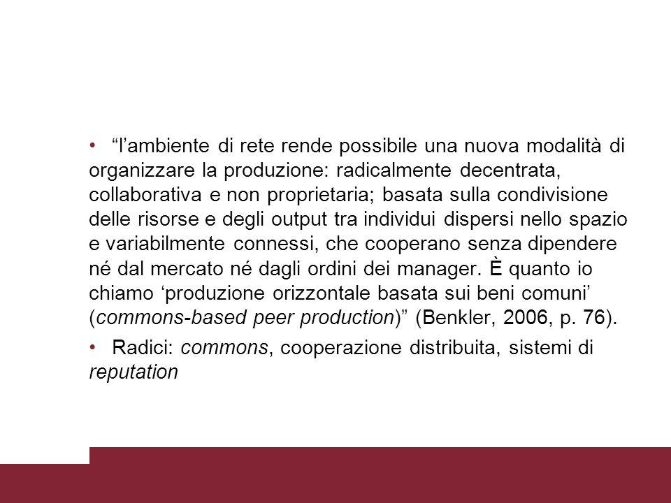 Voci critiche Petersen (2008): looser generated content (contenuti generati da perdenti).