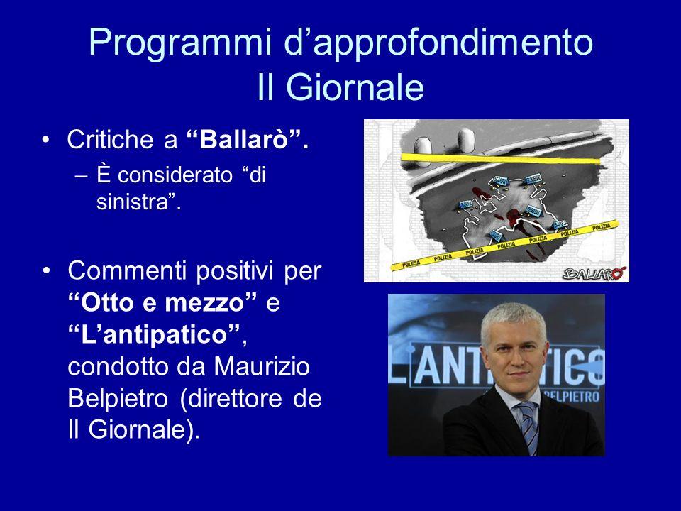 Inchieste Repubblica Promossi: Report, Tg2 dossier, Terra!, Martelli racconta e Blu notte.