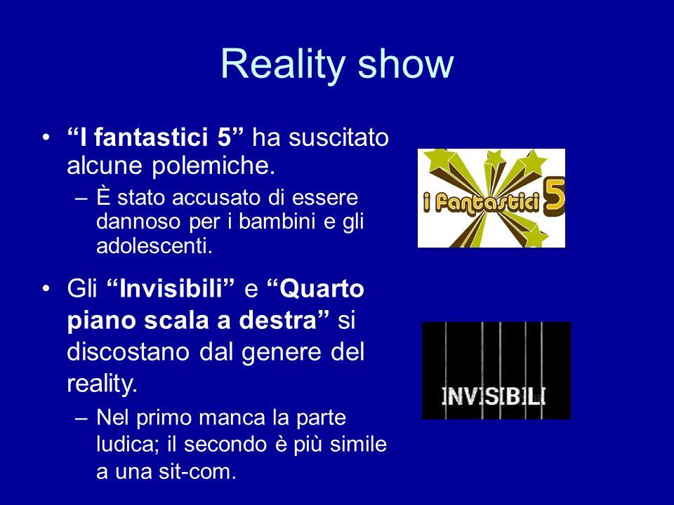 Reality show Il Giornale dedica più spazio rispetto a Repubblica.