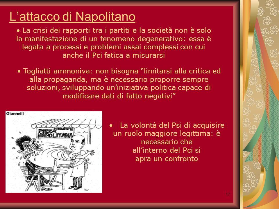 18 Conseguenze dellattacco di Napolitano