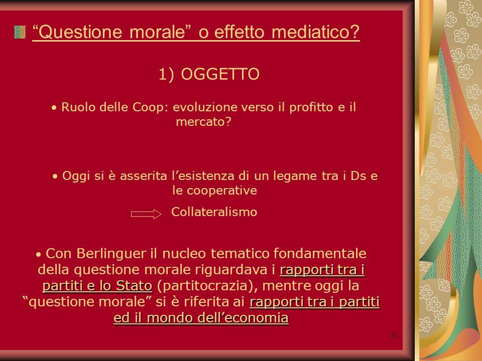 37 Questione morale o effetto mediatico.