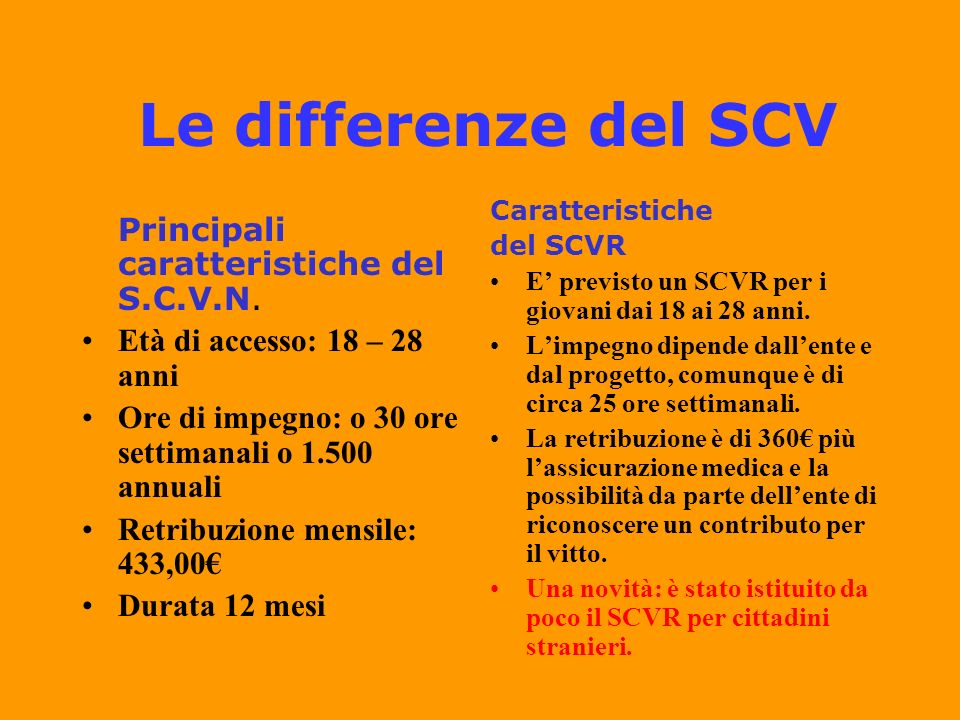 Quali enti per il SCV.